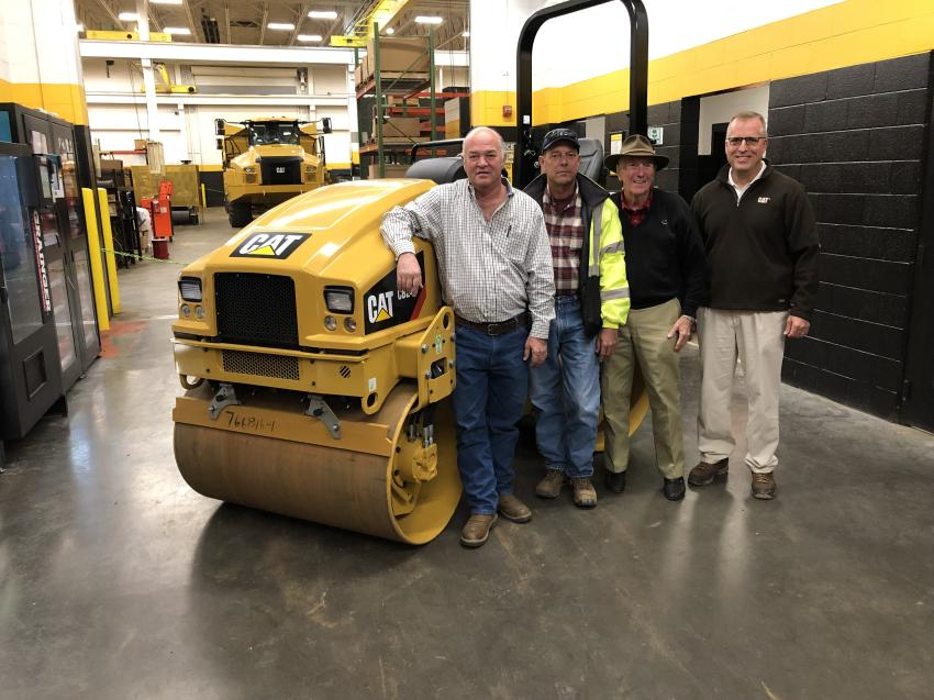 (L-R) Gene Robertson and Mark Sutton, both of Yates Construction in Stokesdale, N.C.; and Ed Weisiger Sr. and Kurt Held, Carolina Cat.