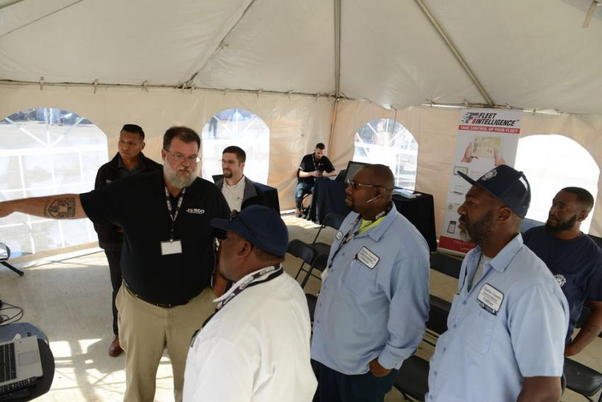 Corporate Business Development Manager Jason Kearney explains JD Link to the team from Charles County Maryland.