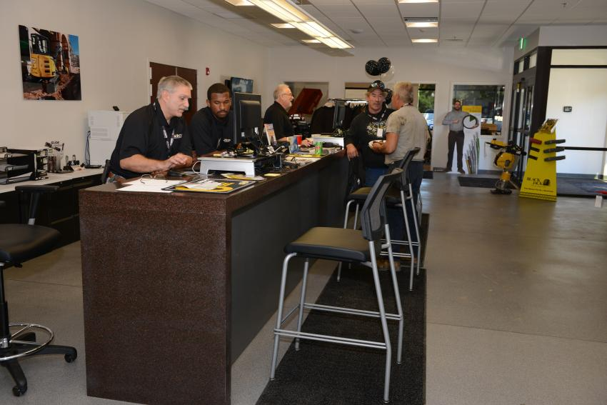 JESCO's new parts department at Waldorf, Md., is open for business.