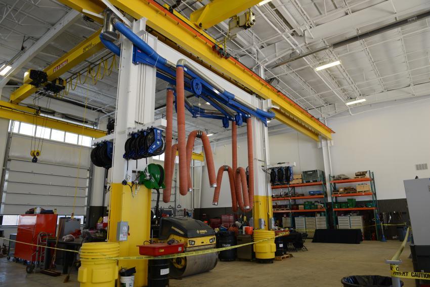 JESCO's new facility has a large service area. (Gellman photo)