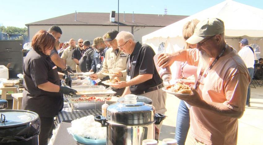 Customers and friends of JESCO were treated to a barbecue luncheon.