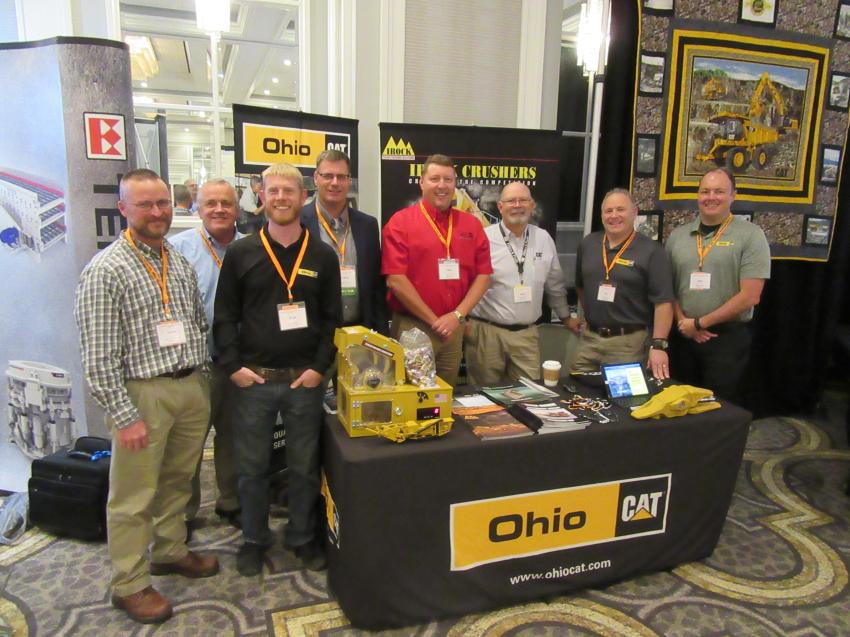 (L-R): Ohio Cat's Aaron Mittendorf, Ned Herald, Kyle Bodkin, Chris Harris, Mike Little, Brad Friend, Ed Blasini and Mike Cullen welcome attendees to the reception event.