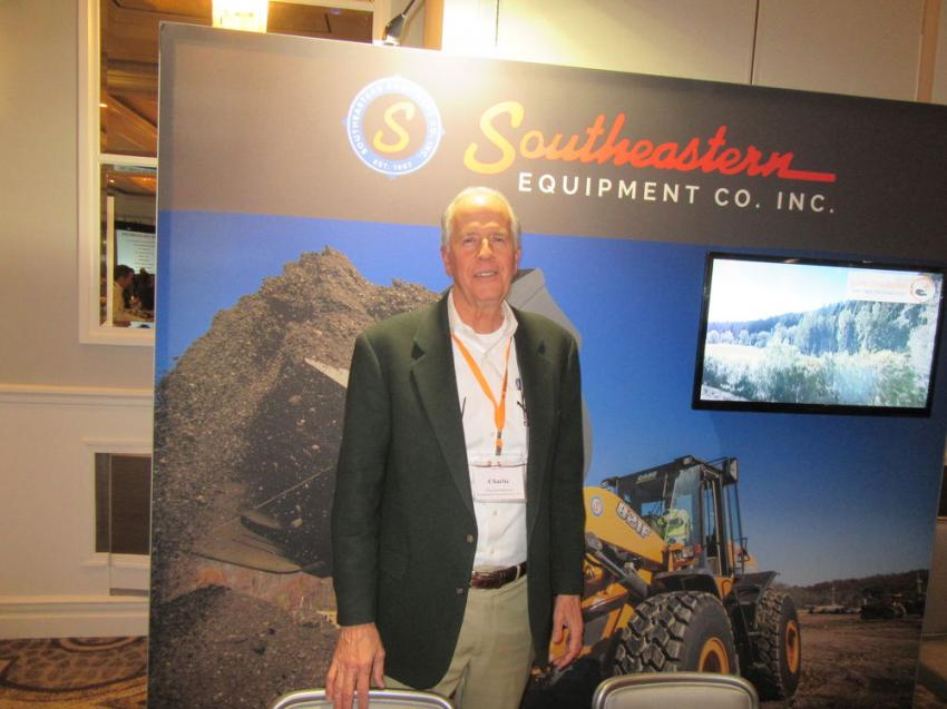 Southeastern Equipment Company's Charlie Patterson welcomed the chance to catch up with friends at the event.