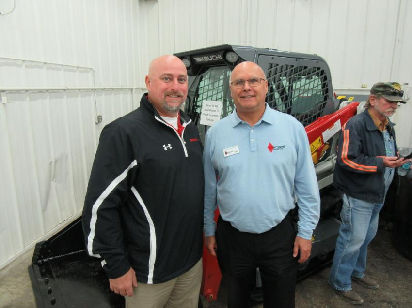 Takeuchi Region Manager Paul Wade was on hand with Diamond Equipment's Dave Fortune to welcome attendees to the event.