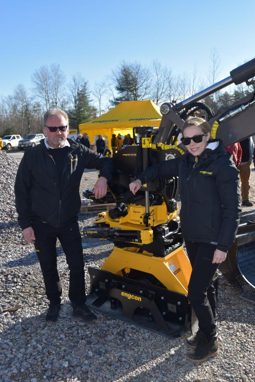 Representing Engcon during the event were Ake Johansson, product specialist, and Joanna Tomczyk, North American director of sales.