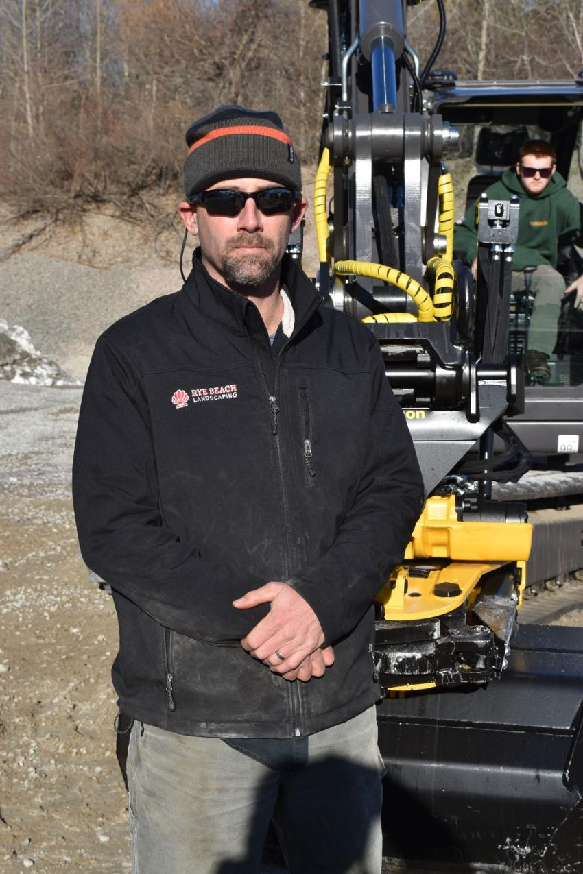 Ben Holmes of Rye Beach Landscaping does landscape construction and excavation.
