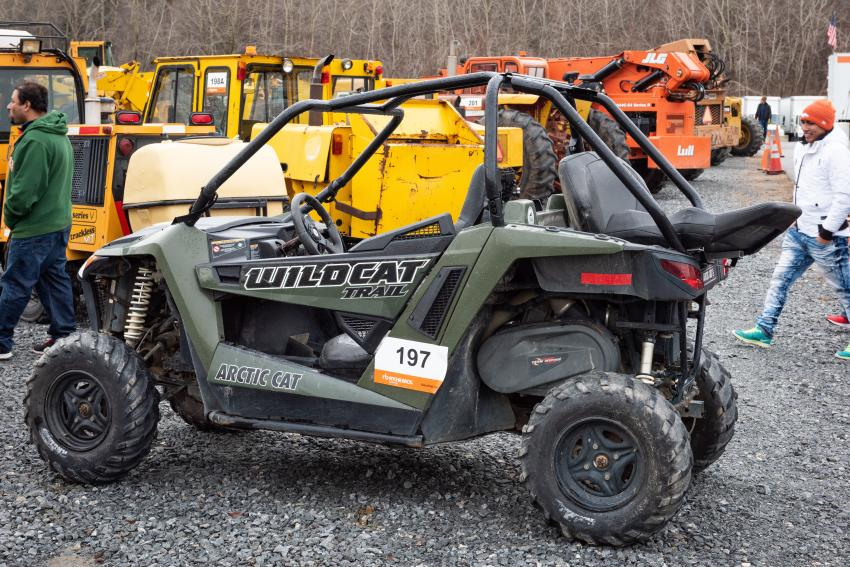 This 2014 Arctic Cat Wildcat Trail 4x4 Side by Side garnered a lot of attention.