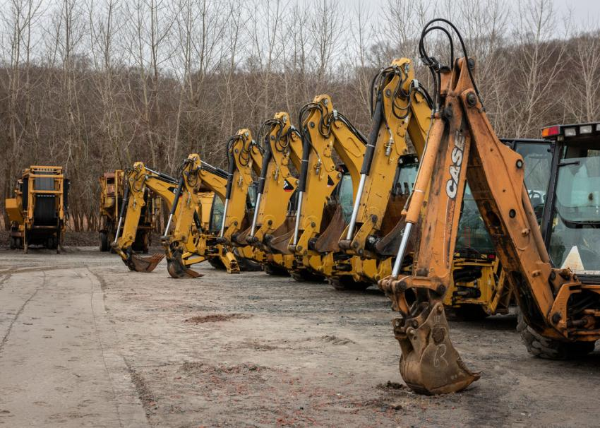 There was an assortment of Case and Cat backhoes to choose from.