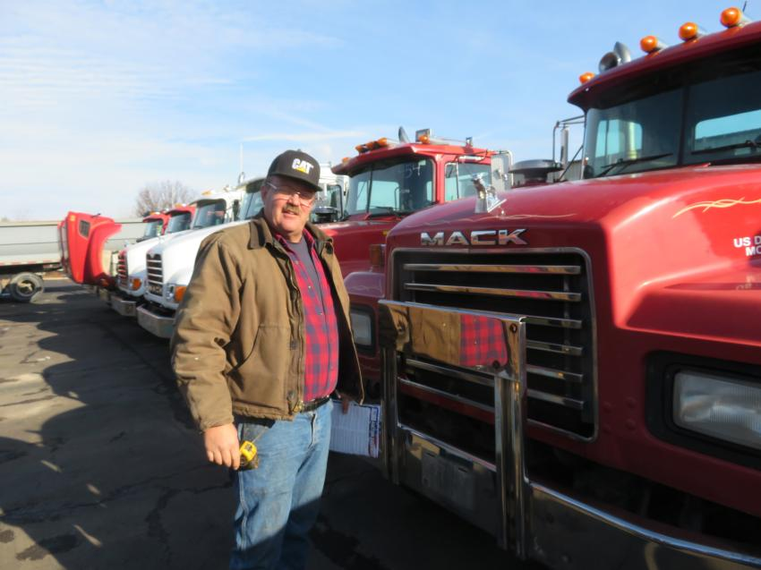 Scott Morin, owner of Morin Excavating, made the trip from Iron Mountain, Mich., to pick up a deal or two.