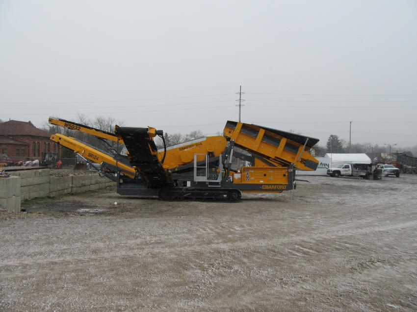 Yoder & Frey's Ashland, Ohio, auction yard is also the location of Barford Equipment dealers A-Equip Pro LLC.