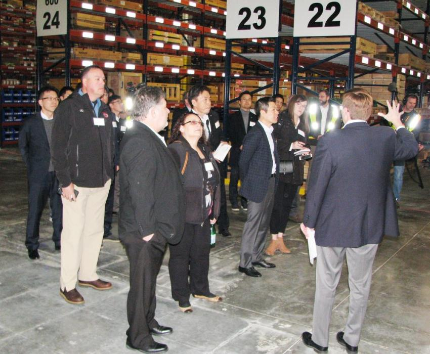 Guests were provided a complete guided tour of the parts distribution facility.