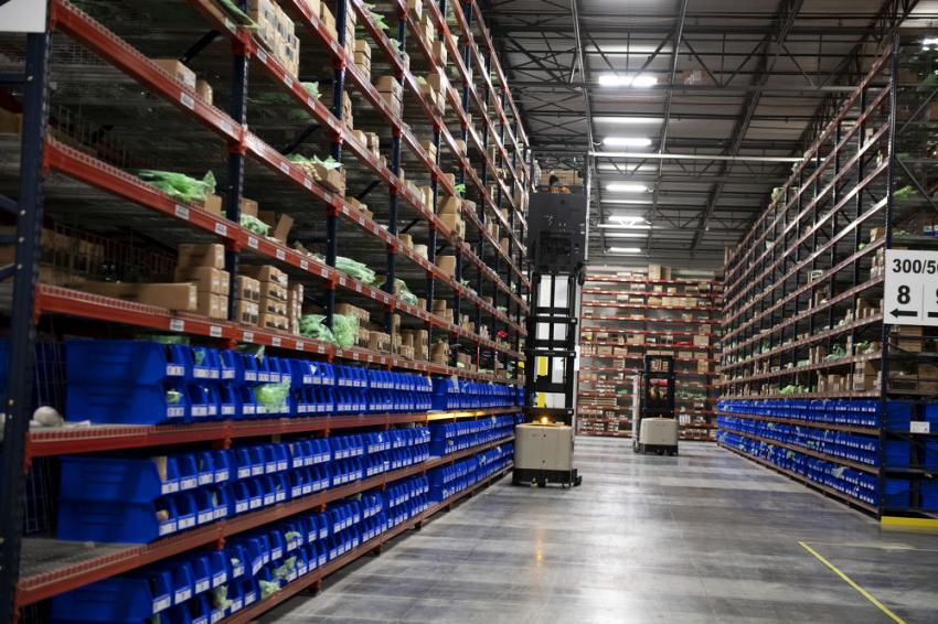 The new, 100,000-sq.-ft. distribution center serves dealers and customers in the United States and Canada.