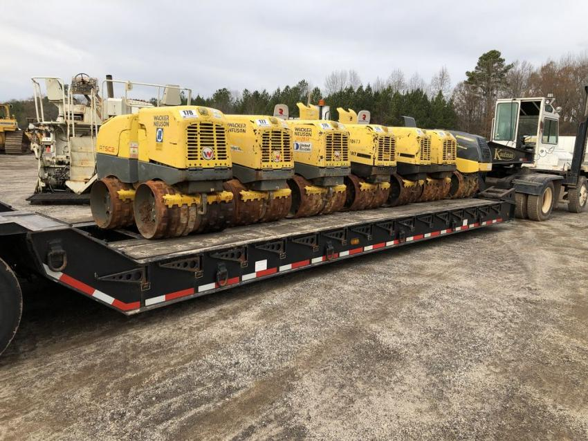 A trailer full of seven Wacker Neuson trench compactors was sold.