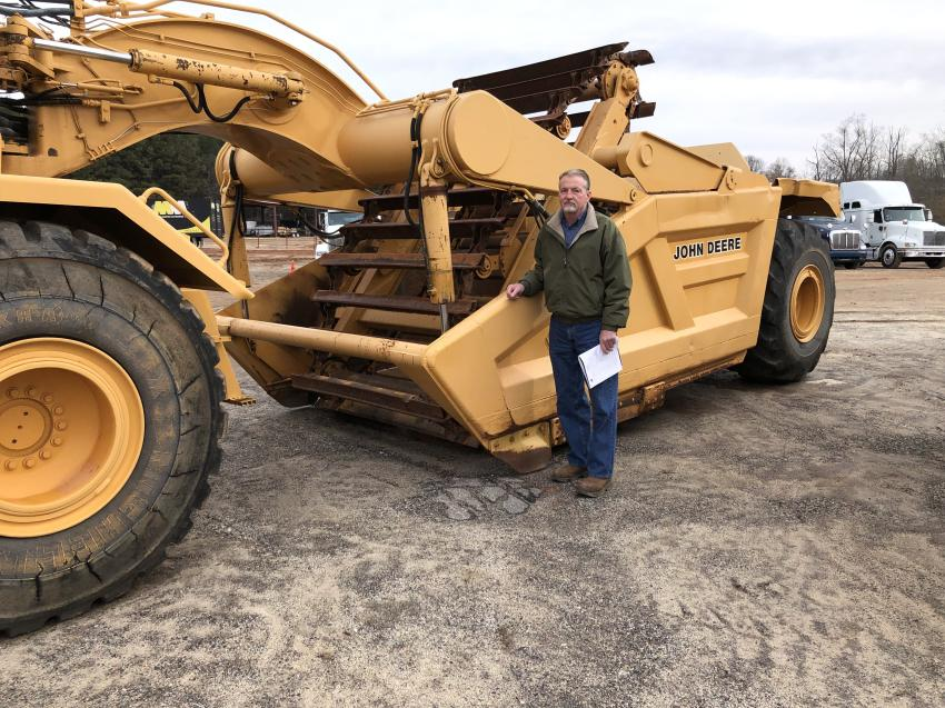 Rick Thain of Southern Quality Truck & Equipment in Lexington, S.C., inspected several pieces equipment including this John Deere 862 scraper.