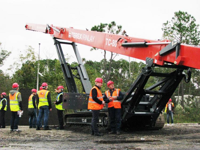 Another product that garnered quite a bit of attention was the new Terex Finlay mobile conveyor. This is a relatively new addition to the Finlay lineup with more sizes being launched soon.