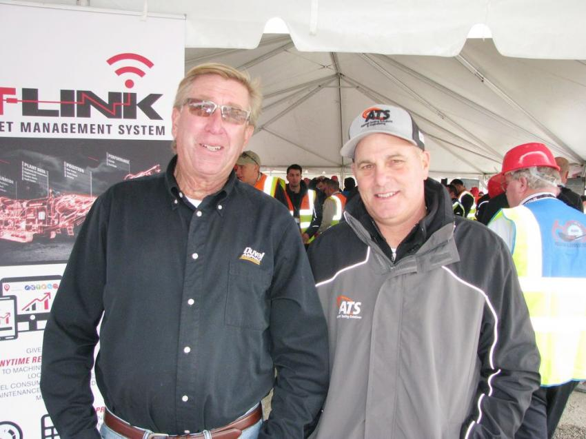 Hosts of the demo at Duval Asphalt in Jacksonville, Fla., were T.J. Young (L), Duval production manager, and Steve McReynolds of Duval's Asphalt Testing Solutions & Engineering Division.