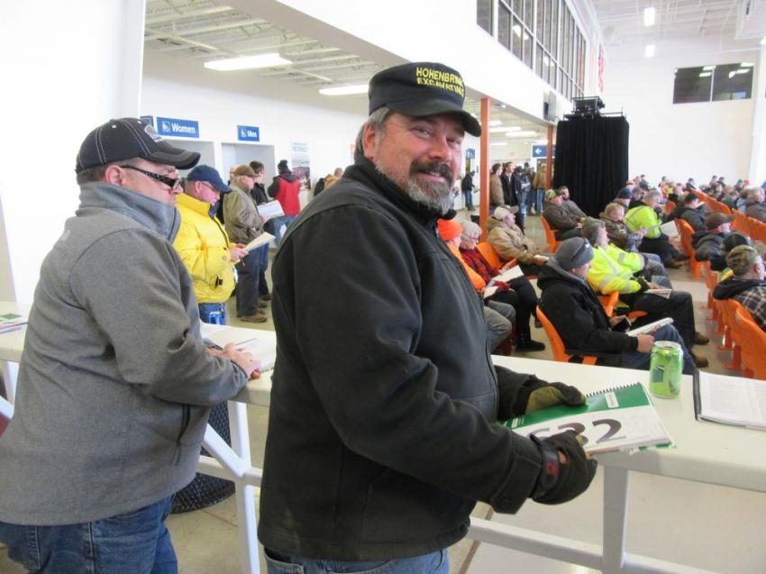 Rick Hohenbrink of Hohenbrink Excavating included a visit to the Ritchie Bros.' Columbus auction in his tour of recent equipment auctions in search of equipment deals.