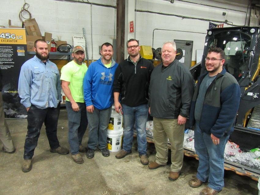 (L-R): Andrew McCall, Steven Harding, Nick Harding, Andy Gyongyosi and Mike Switzer joined Murphy Tractor & Equipment's Mark Hash, along with Todd Esola, at the Brunswick Branch.