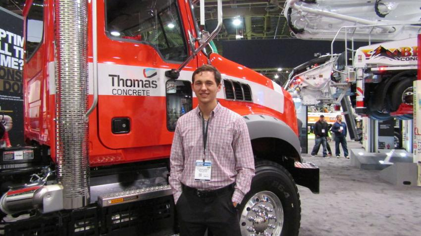 Dylan Klusaritz of Mack Trucks gives the specs on this Mack Granite Truck equipped with optional mDrive.