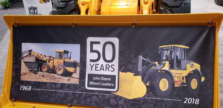 John Deere is wrapping up the 50th anniversary of its JD 544 wheel loader.