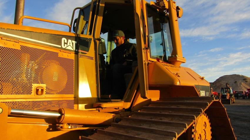 Prime Excavating's Reed Dodenber of Mesquite, Nev., came specifically to purchase a couple of dump trucks and rollers, but this 2005 Cat D6N  caught his eye and warranted a test drive.