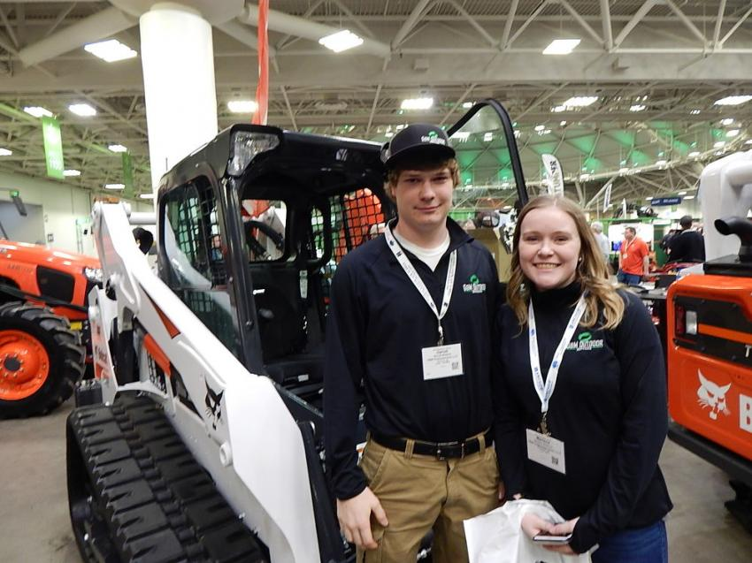 Garrett Williams (L) and his sister and business partner, Marlena Williams, of G&M Outdoor Services, Monticello, Minn., specialize in landscaping, hardscapes, boulder walls and snow removal.