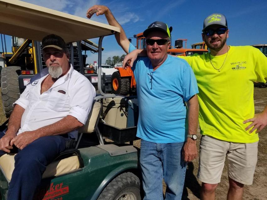 (L-R): Jeff Walker of Walker Grading, Steve Smith of Temple Grading Construction and Alex Moss of Yellow Dog Grading, Lillington, N.C.