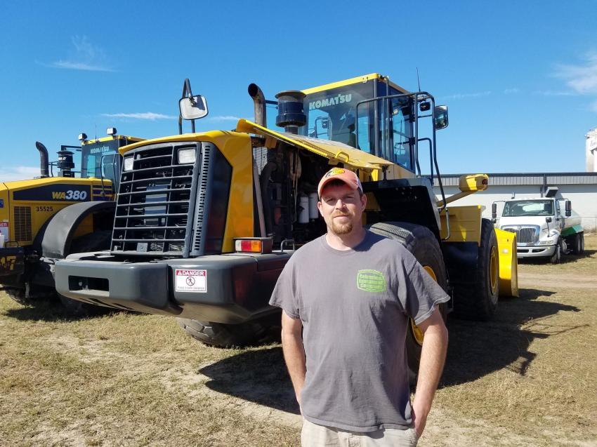 Bryan Smith of Logan Construction, Rushylvania, Ohio, considers this Komatsu WA480 wheel loader.