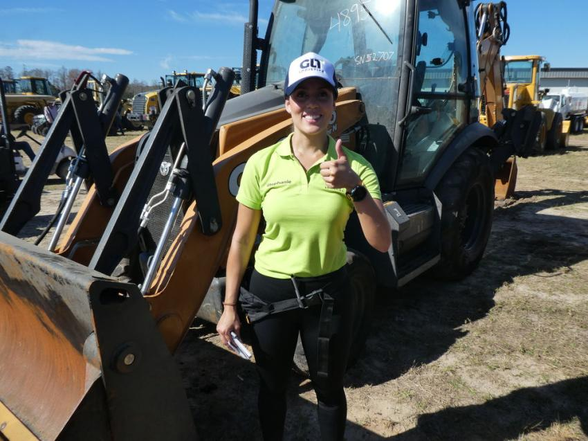 Stephanie Ospina of GLT Logistics, Miami, Fla. GLT provides heavy hauling services.
