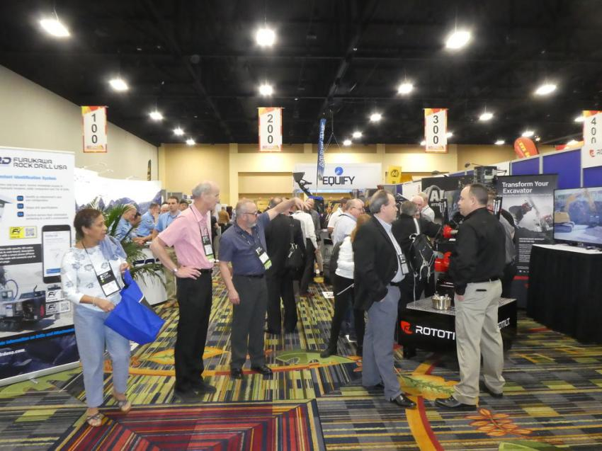 The CONDEX show was well-attended with plenty of booth activity.