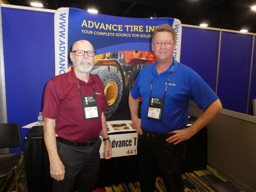 First-time CONDEX exhibitors Jeff Erbig (L) and Jerry Bruner of Advance Tire Inc., Millstone, N.J.
