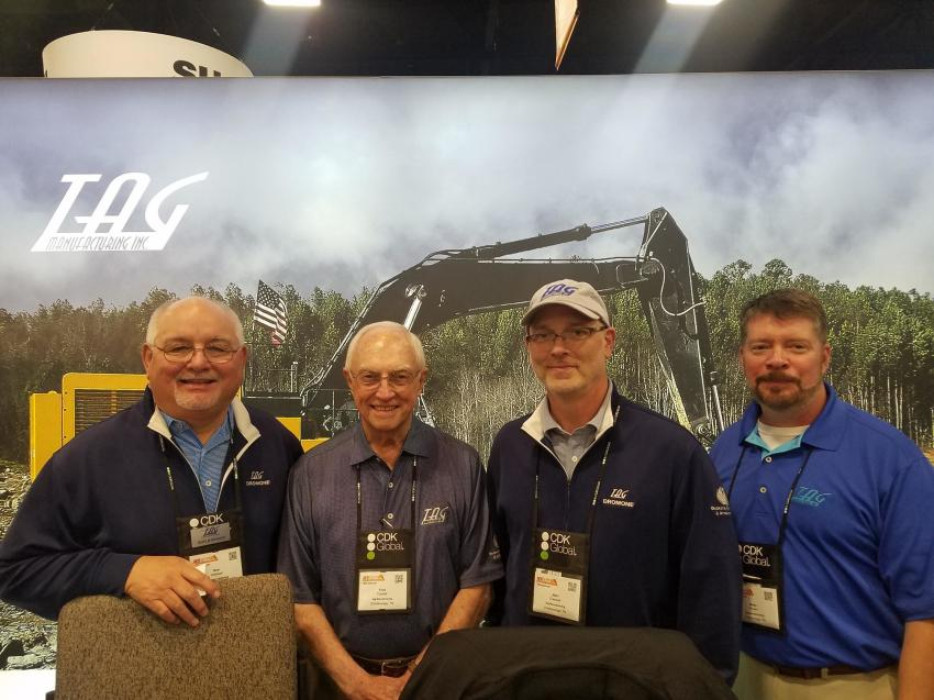 (L-R): Ron Johnson, Fred Caddell, John Creswell and Brian Brown represented Tag Manufacturing Inc., Chattanooga, Tenn., at the trade show.