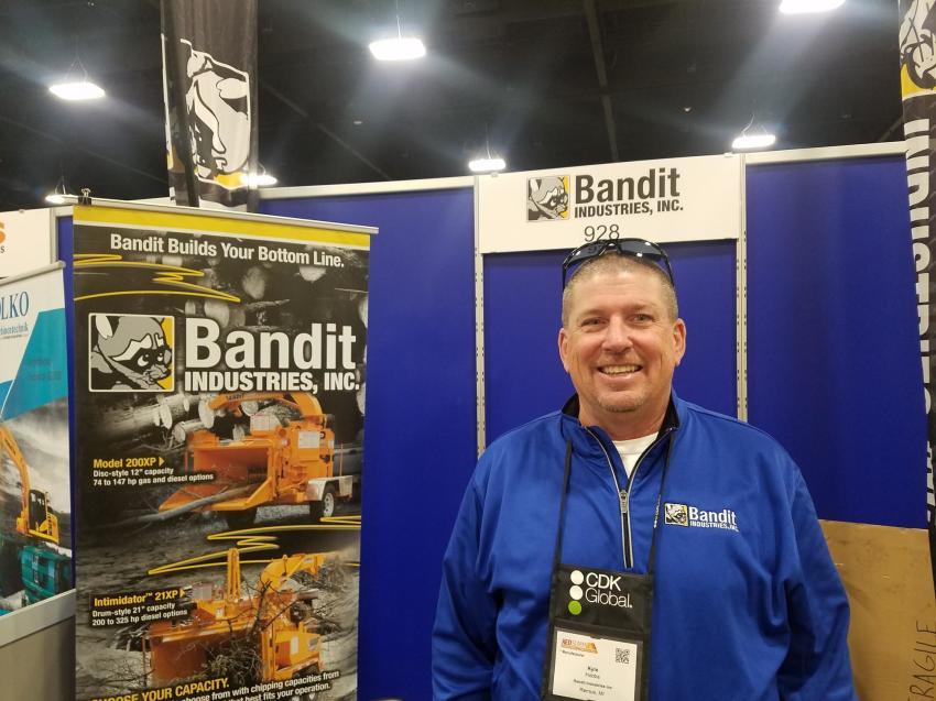 Kyle Hobbs represented Bandit Industries Inc. of Remus, Mich.