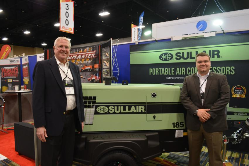 Sullair and its line of portable air compressors were represented at CONDEX by Mark Benzel (L), business development manager, and David Burnham, field service specialist.