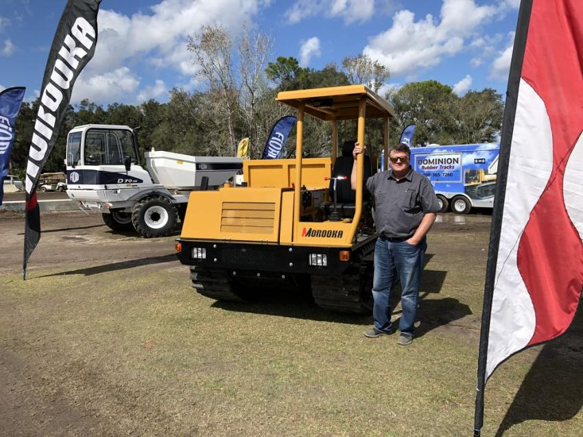 Ken Byrd of Dominion Equipment, Ashland, Va., had several new Morooka and Fiori machines on display that drew many visitors.