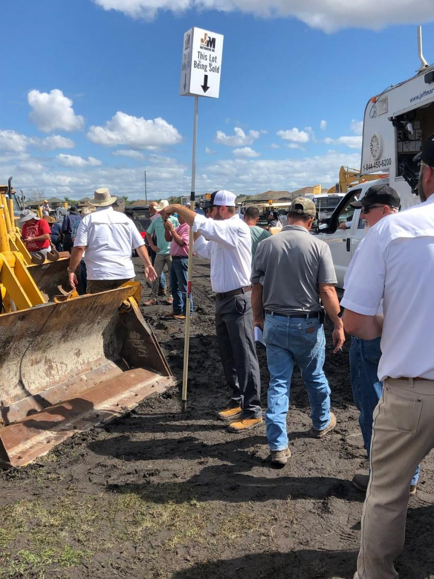Thousands of industry pros from across the country attended the Jeff Martin auctions in Kissimmee to bid on items like this late-model tractor loader backhoe.