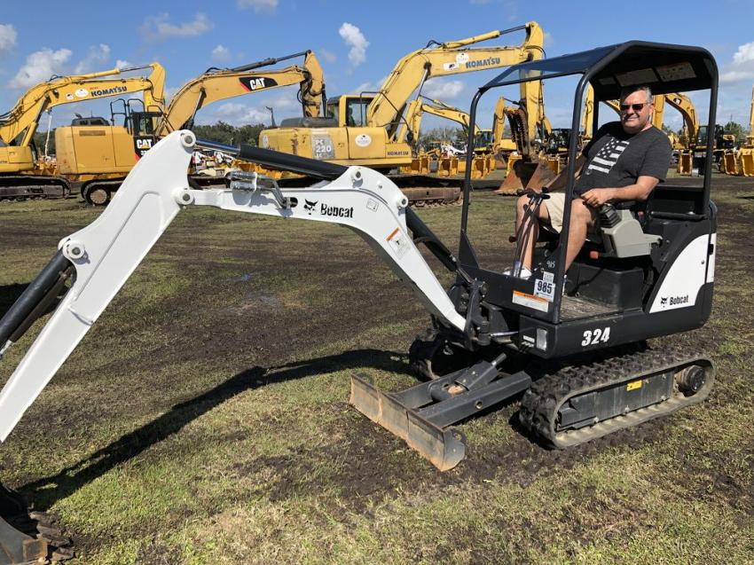 Scott Abramo of Abramo Backhoe Service thought this Bobcat 324 mini-excavator would be a good addition to his equipment fleet and he intended to bid on it.