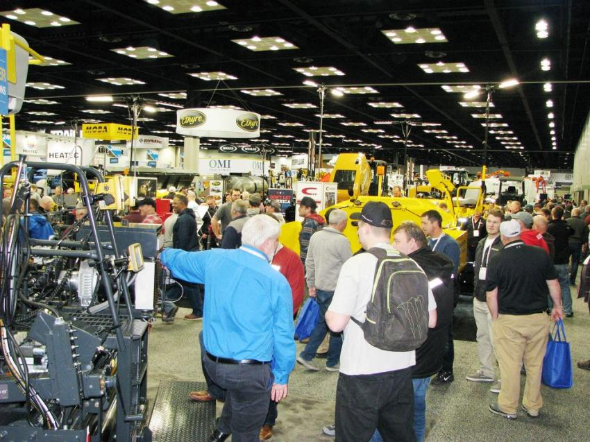 On Day 1, the crowd flooded the exhibits on the show floor.