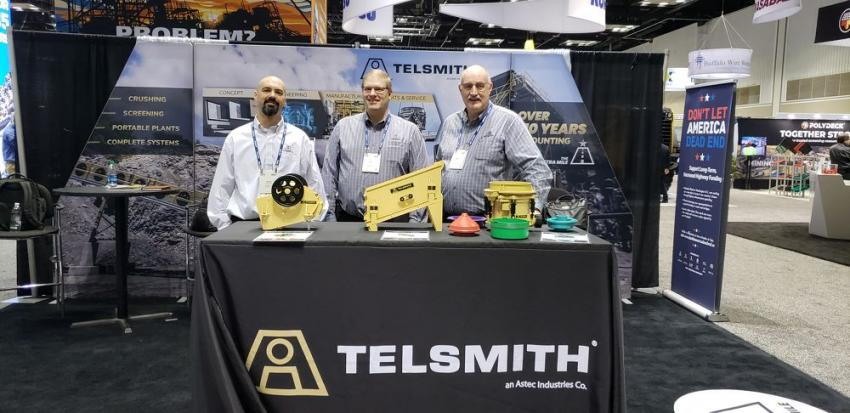(L-R): Dean Wolfe, Al Van Mullem and Matt Haven staff the Telsmith booth.