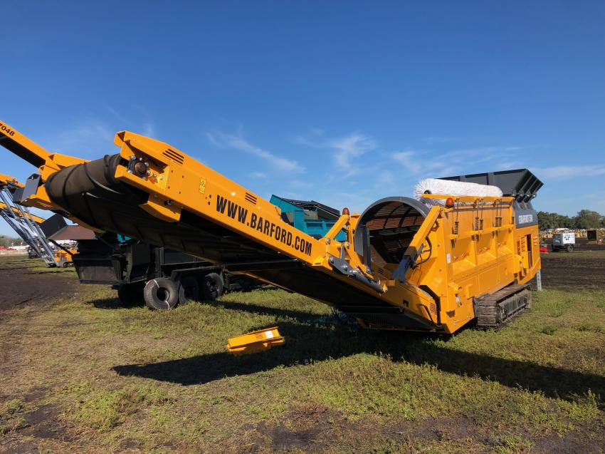 This Barford trommel screen is an example of the brand new aggregate equipment that was available at the Yoder & Frey auctions.