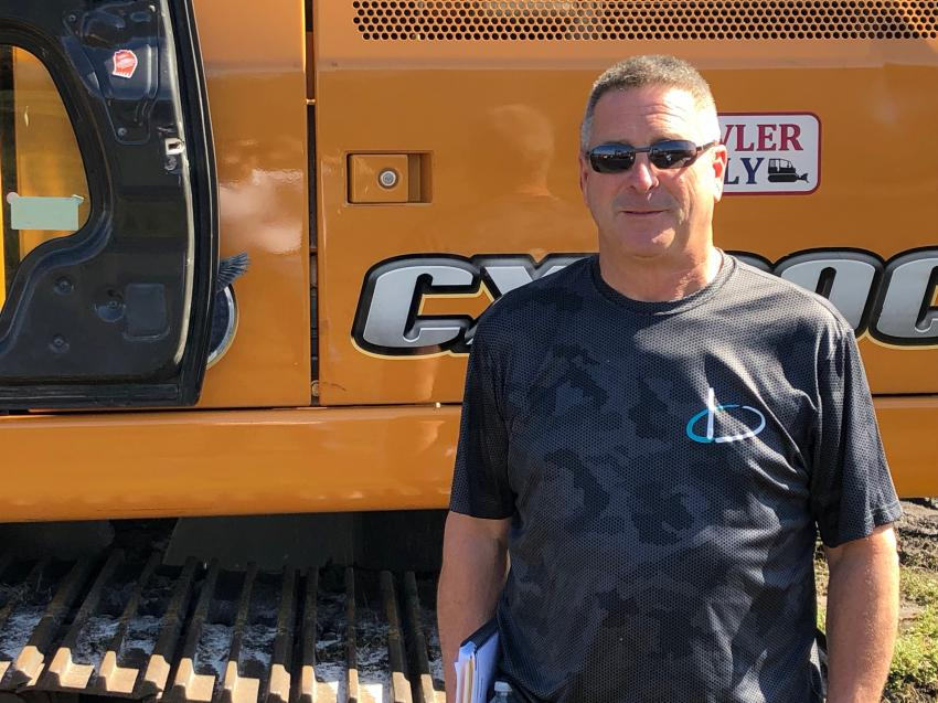 James Leman of ATP Precision Paving, Traverse City, Mich., considers adding this Case excavator to his fleet.