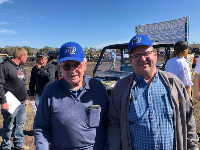 Jim Davis and his son, Chris, from Prospect, Conn., have been attending the Yoder & Frey sale since its inception 45 years ago.