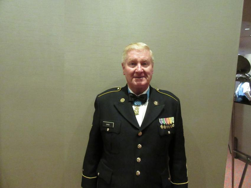 Vietnam War veteran and Medal of Honor recipient Sammy Lee Davis was the keynote speaker at CAM's 133rd Annual Meeting.