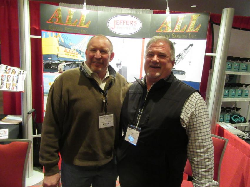 Jeffers Crane Service's Kevin Boyd (L) and Vince Voetberg said the show was a great way to support CAM while meeting with clients and prospects.