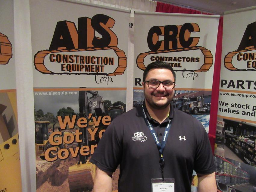 AIS Construction Equipment's Michael Boulus welcomed attendees and talked to them about the dealership's lineup of equipment for sale and rent.