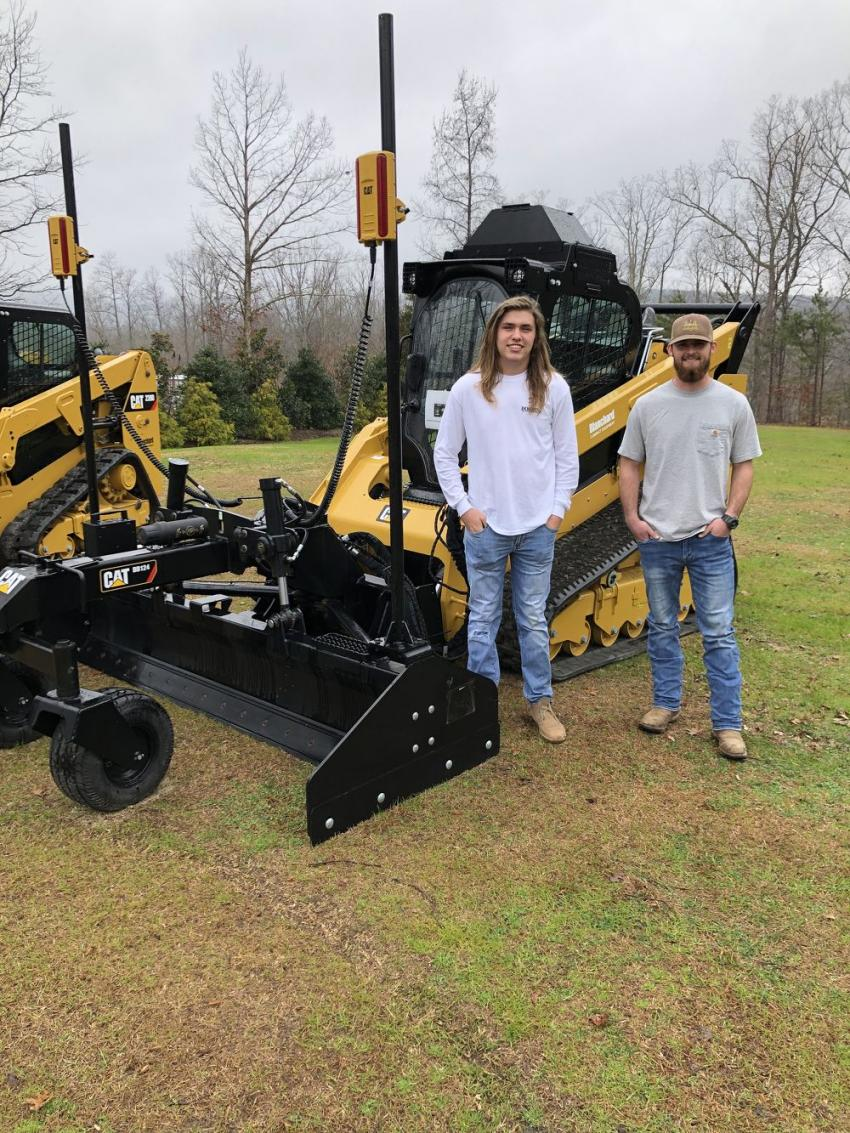 Blake Dobbins (L) of Dobbins Grading & Hauling in Landrum, S.C., and Caleb Bruce of Bruce Construction.
