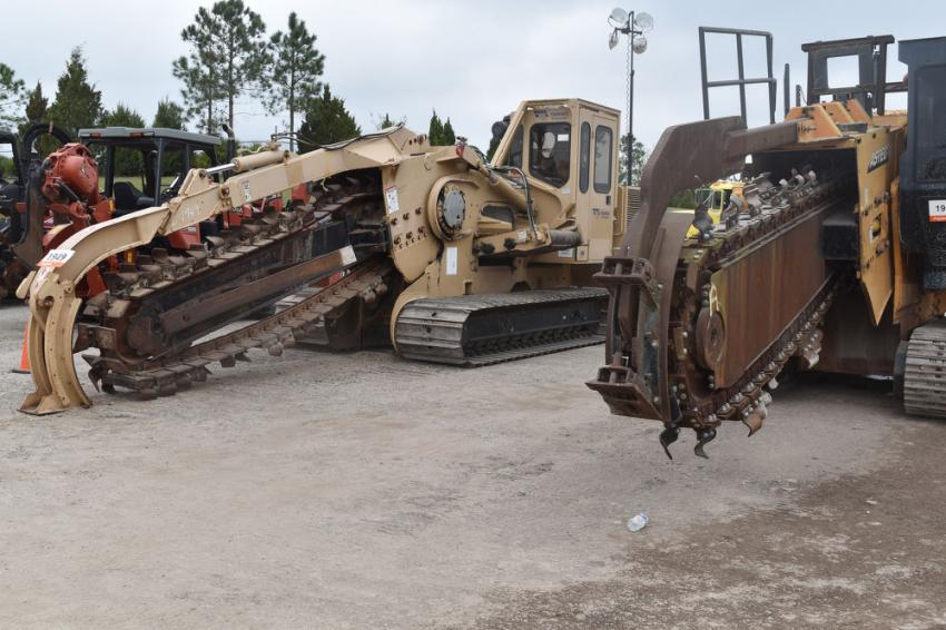 These Astec trenchers found new owners during the six-day sale.
