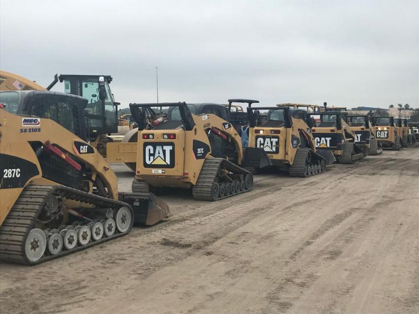 Ritchie Bros.' first day of its annual Florida Auctions featured skid steers, telescopic forklifts, boom lifts and much more.