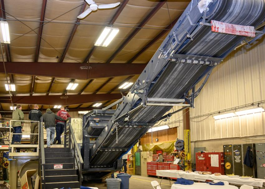 Group A's class begins on a Lokotrack LT106 mobile jaw crushing plant instructed by Jamie Zisk, a Whitney and Son service technician of 26 years.