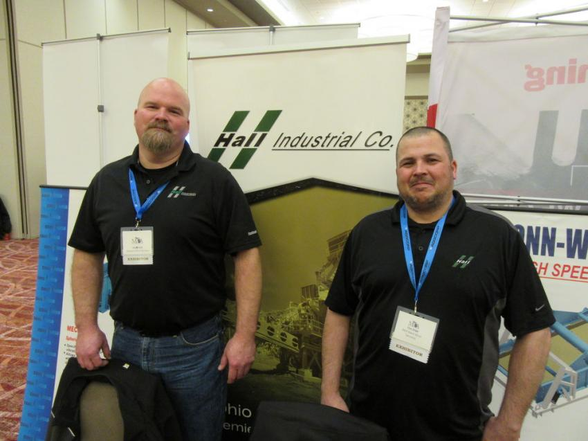 Rob Kidd (L) and Tim Kidd of Midwest Mine Services welcomed attendees to their booth.